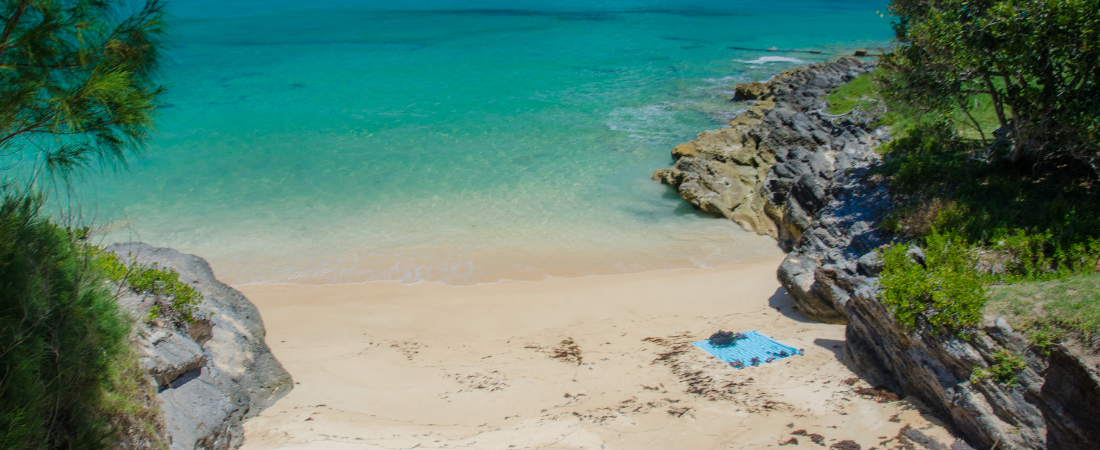 Beach with turquoise water